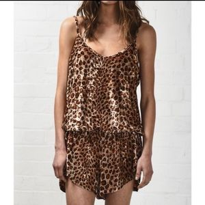 One Teaspoon the Private Game cheetah romper
